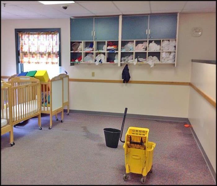 Fire Sprinkler Head Burst in Local Daycare II Before