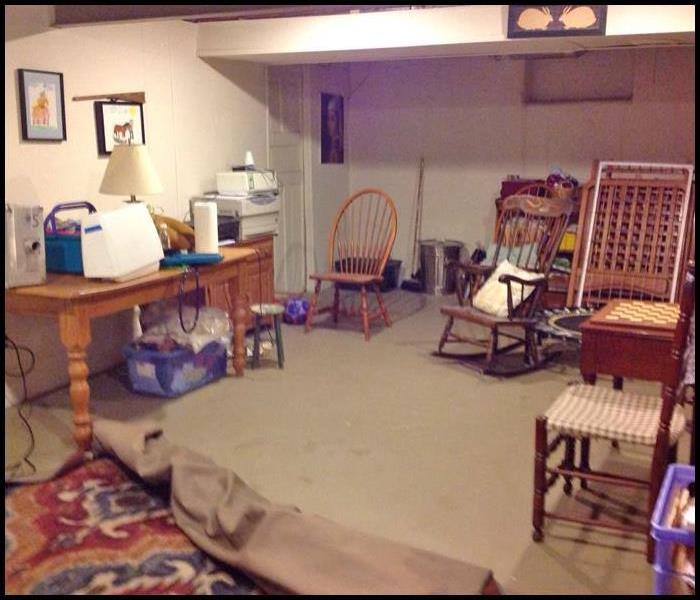 Basement Cleanup Before