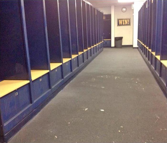 Flooded Locker Room in Wayne, PA Before