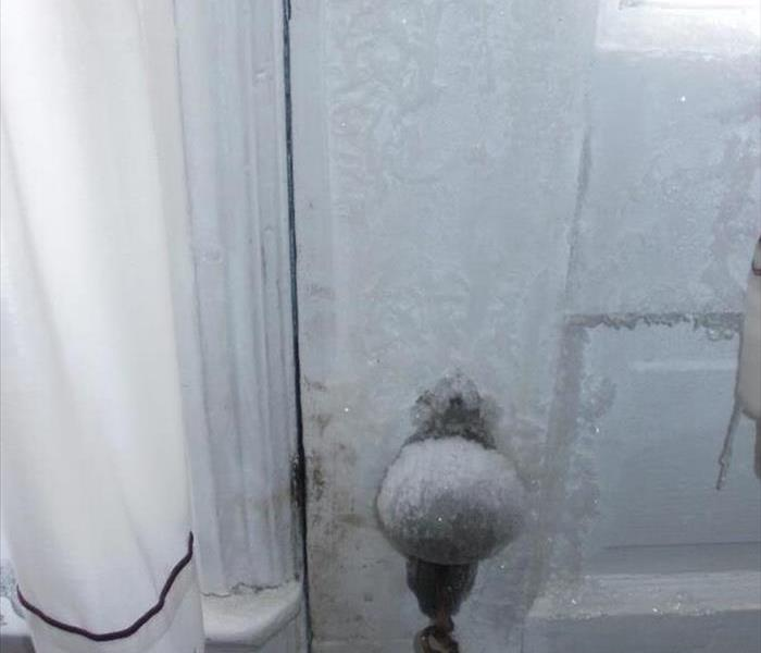 Inside of house is frozen Before