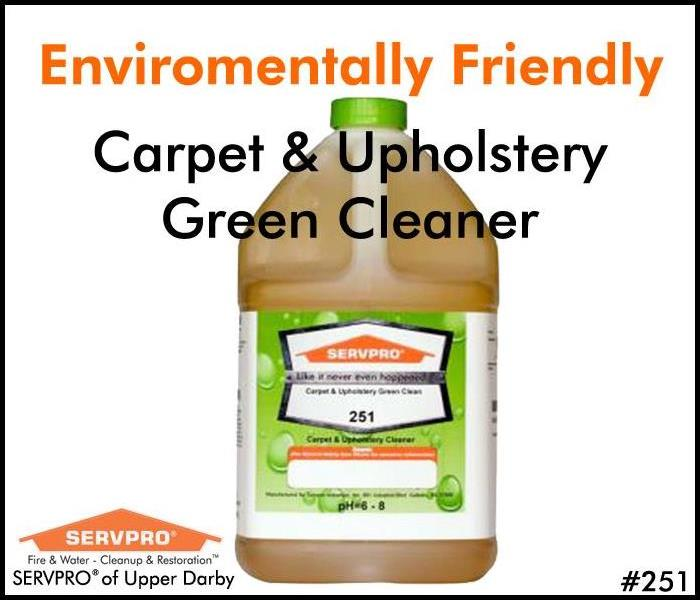 SERVPRO's Professional Cleaning Products: Carpet & Upholstery GREEN Clean