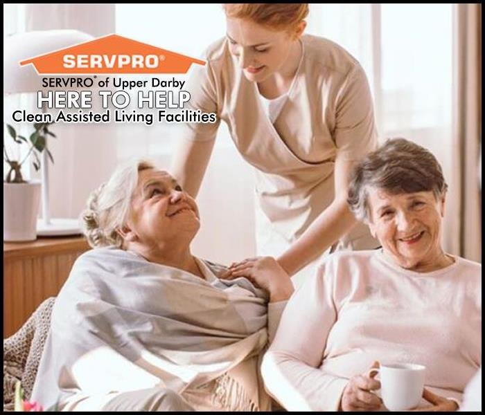 Senior citizens with a caregiver
